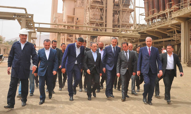 Imad Kamis, Prime Minister of the Syrian Regime's Government, visit to the city of Adra- May 1, 2017 (SANA)
