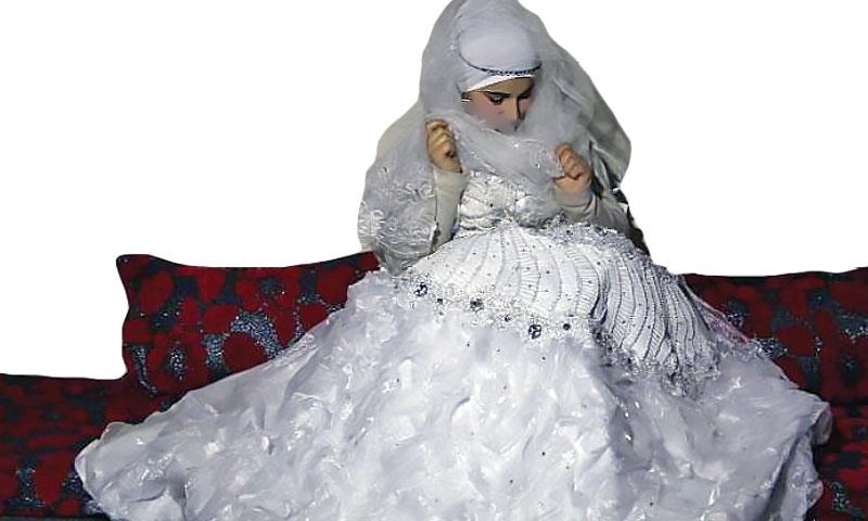 Expressive – A Syrian refugee girl on her wedding day in Turkey- (Anadolu Agency)