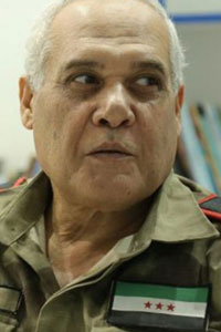 Abdul Razzaq Aslan, commander-in-chief of the National Police and Public Security Forces in the northern countryside of Aleppo.