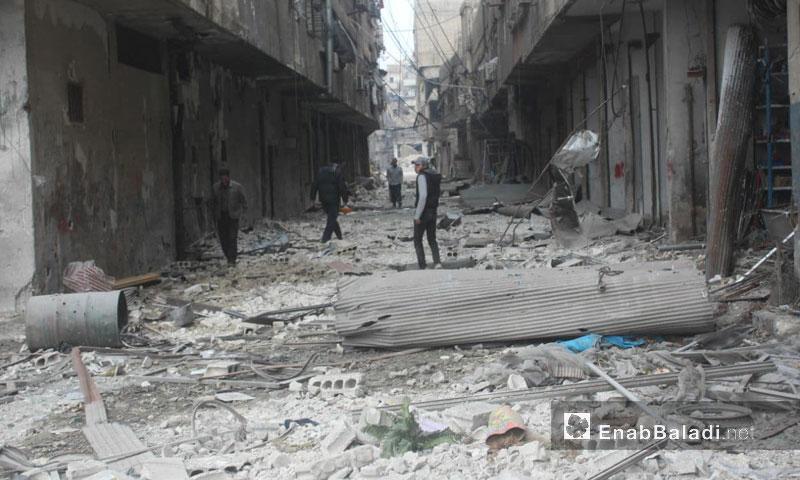 Arbin city's market in Eastern Ghouta – (Enab Baladi)