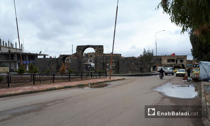 The Stone Gate of the City of Shahba in As-Suwayda governorate- December 2017 (Enab Baladi)