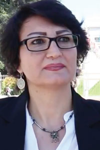 Alays Mafrij a Syrian opposition figure and a member of the Geneva delegation
