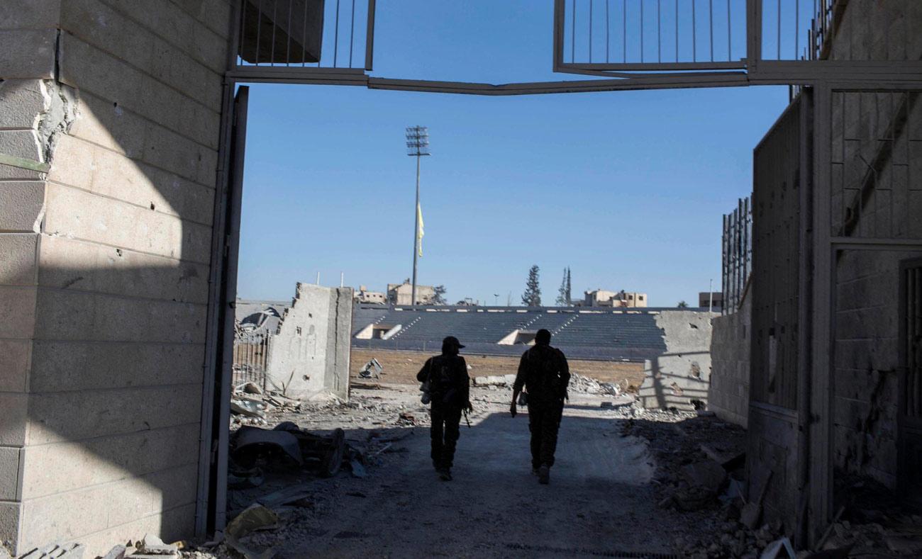 Two Kurdish fighters (AP)