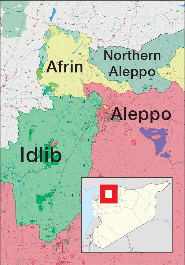 The Control Map in Northern Syria – 18 February 2018 (Livemap)