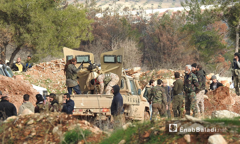 Preparations of the Free Army for a battle in the vicinity of Afrin area in Aleppo countryside - February 2, 2018 (Enab Baladi)