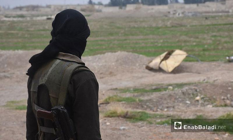 """A fighter from """"Jaysh al-Islam"""" in Hosh Al-Dwahra, Eastern Ghouta – 13 February 2018 (Enab Baladi)"""