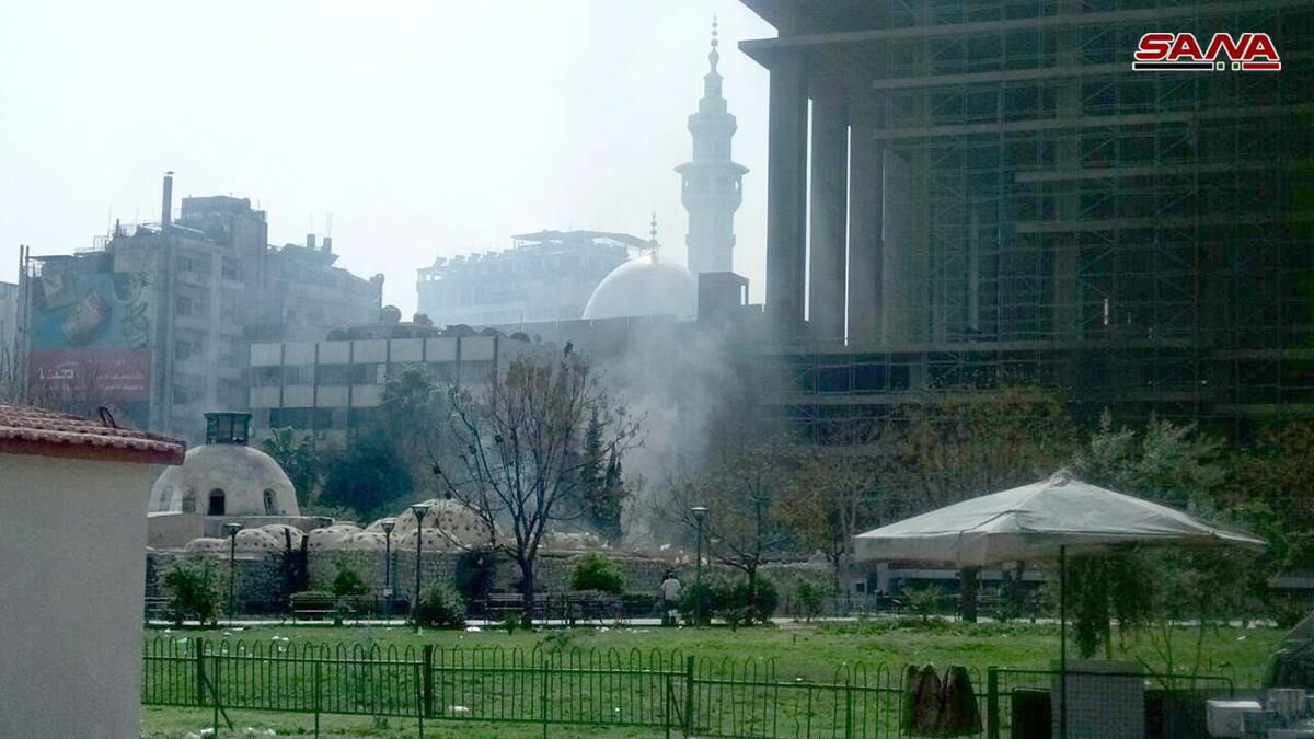 The effects of the shelling that targeted Damascus – March 22, 2018 (SANA)