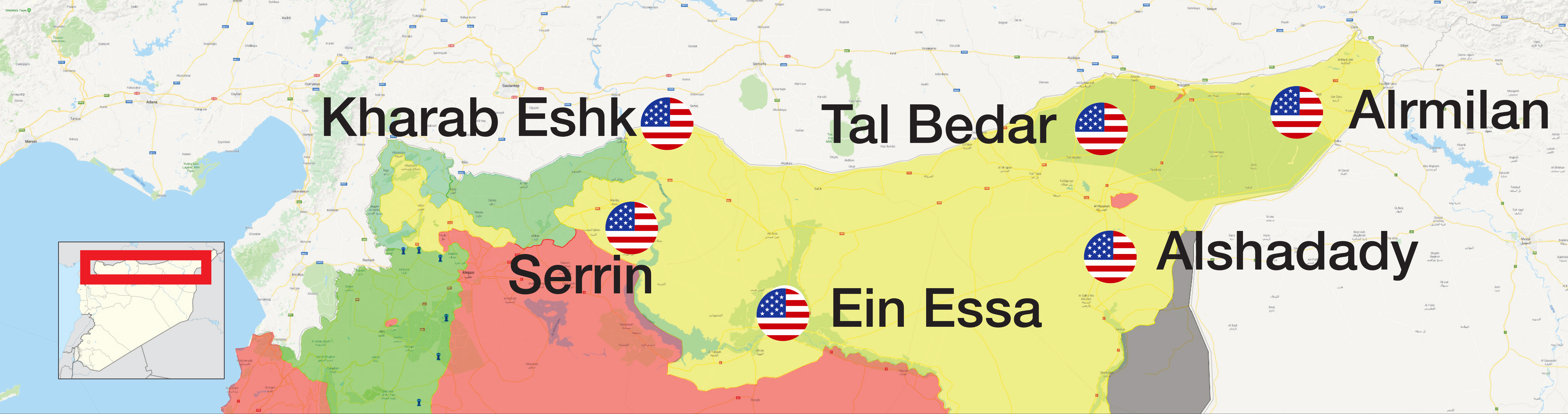 The most prominent US sites in Northern Syria - (Enab Baladi)