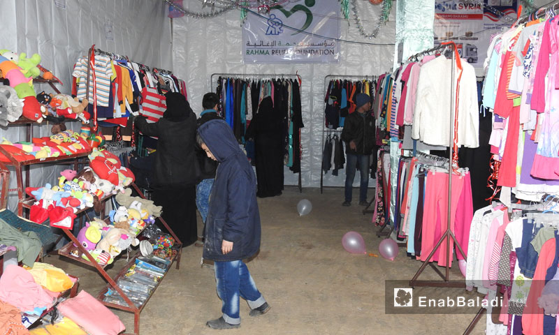 A clothes fair in the northern countryside of Aleppo – 28 February 2018 (Enab Baladi)