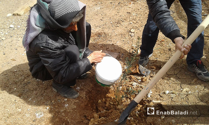 Part of the project's activities in Dabiq town in Northern Aleppo