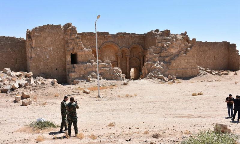 Al-Rusafa Castle in rural Raqqa – July 2017 (SANA)