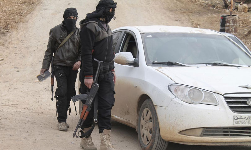 """Members of """"al-Nusra Front"""" in control of a crossing-border point between Syria and Jordan – 6 March 2015 (Reuters)"""