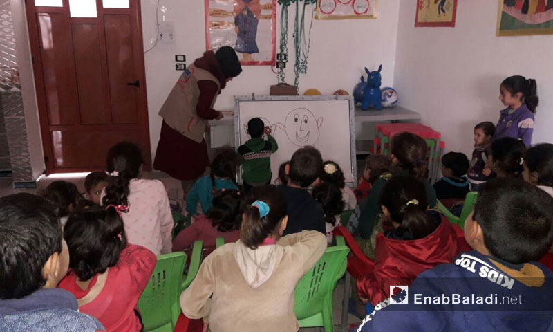 Maram Foundation for Relief and Development targets children in Qalaat al-Madiq with its activities – (Enab Baladi)