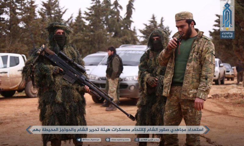 Members of the Sham Falcons Brigades in Idlib – 26 February 2018 (Telegram)