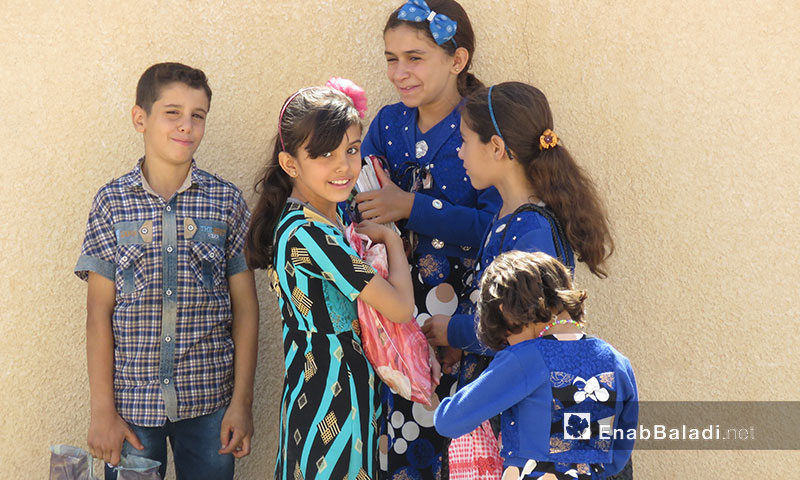 Students return to schools after a relative stability in the liberated areas in Hama – Oct.3.2017 (Enab Baladi)