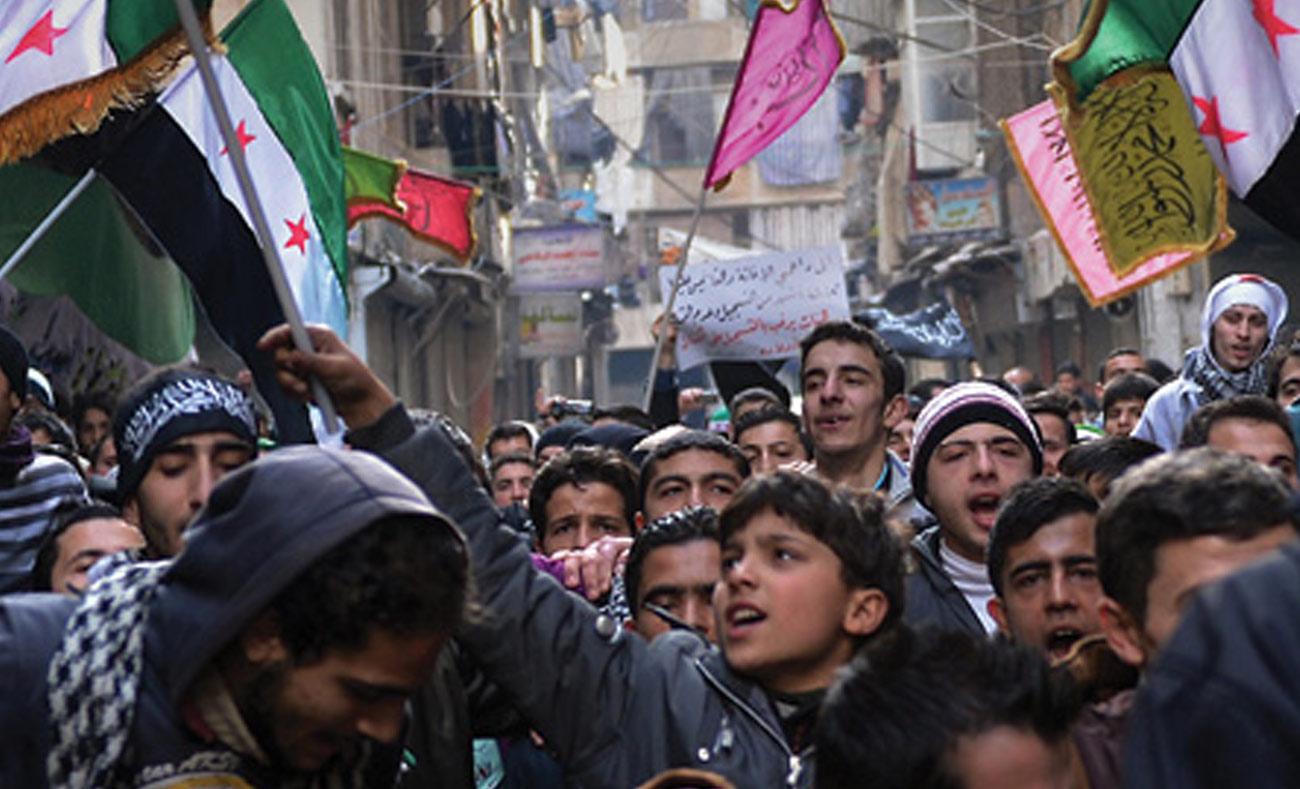 Demonstration in Aleppo - 2013 (AFP)
