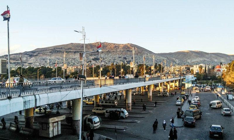 The President Bridge in Damascus – February 6, 2018 (Damascene Youth camera, Facebook)