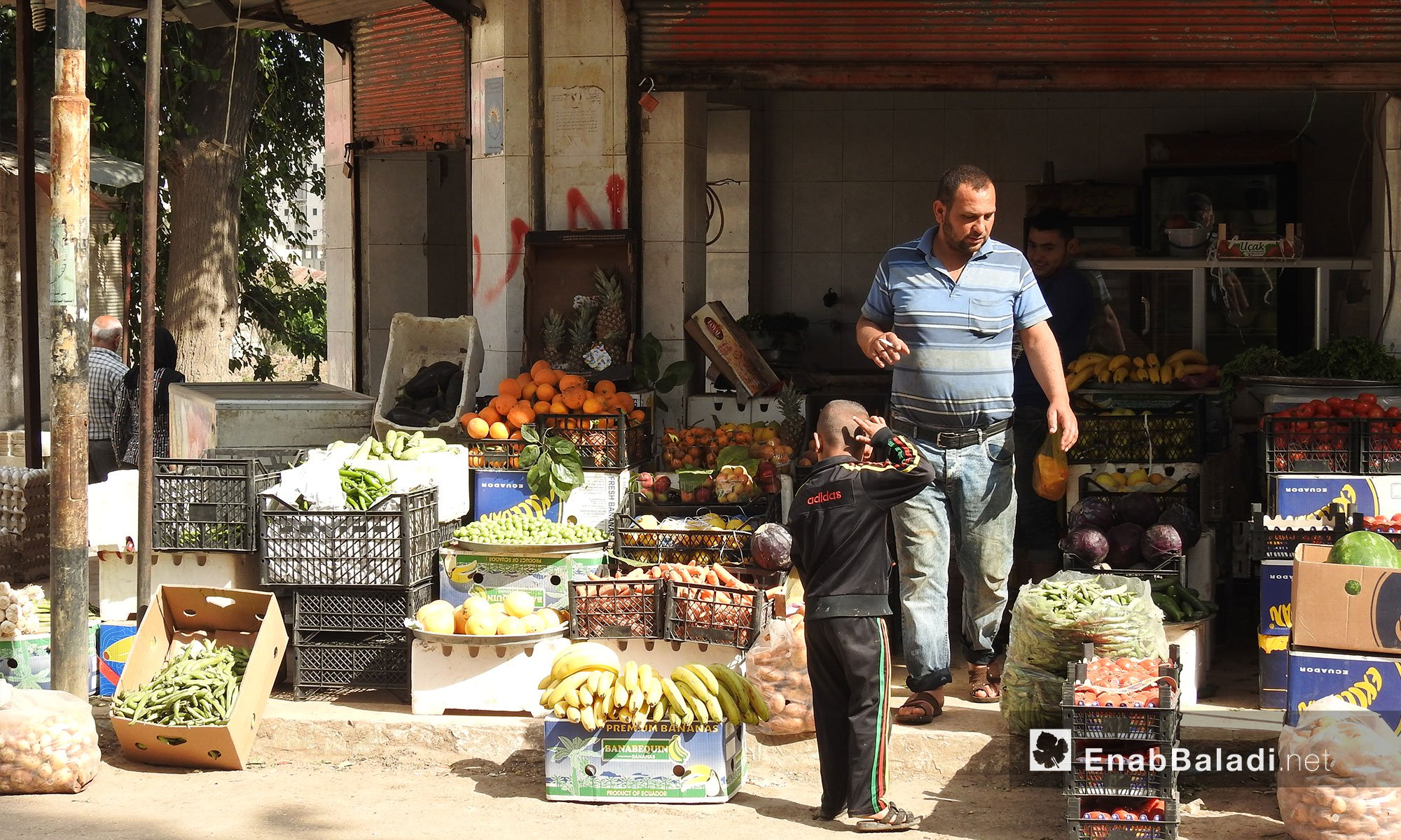 A grocery shop in the city of Afrin, Northern Aleppo – April 25. 2018 (Enab Baladi)