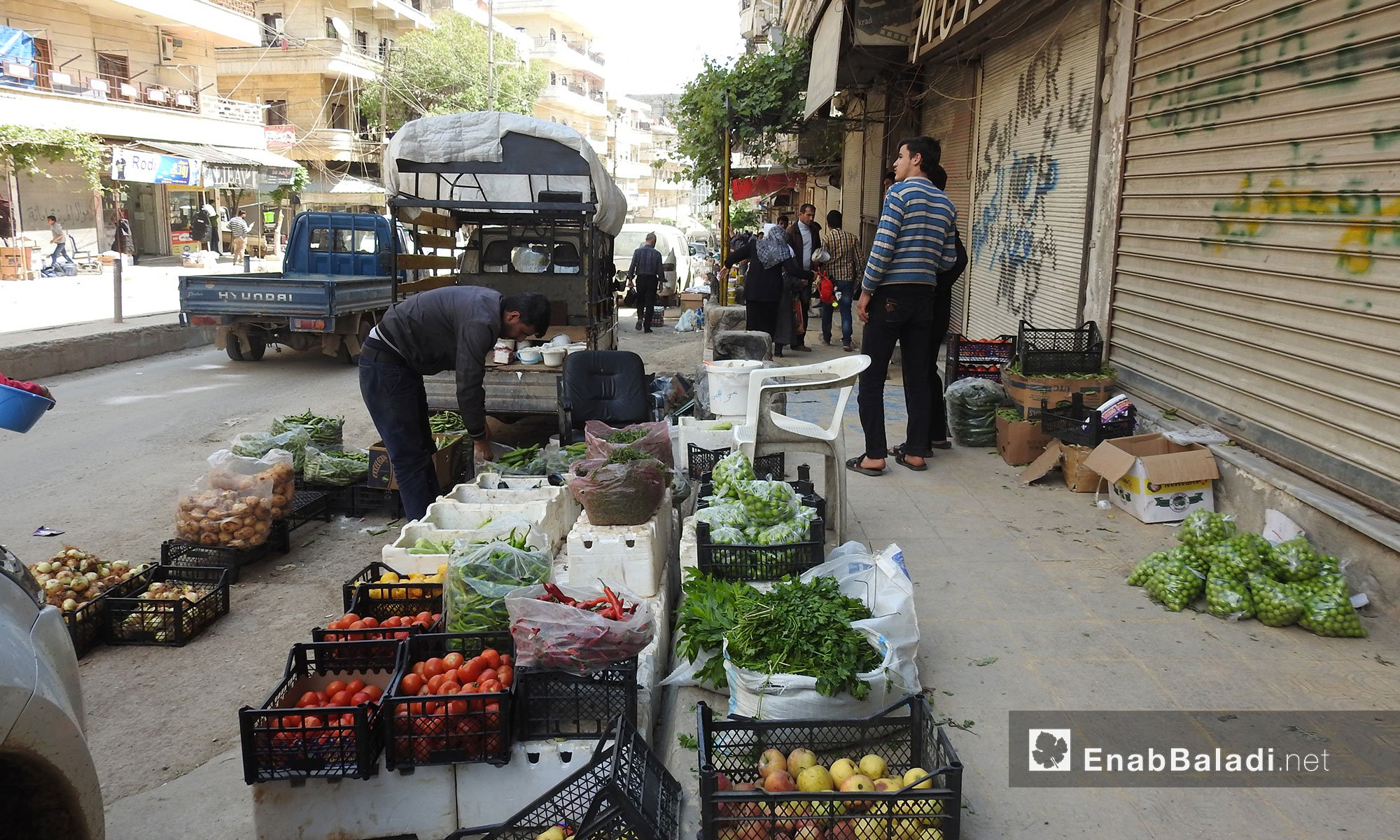 Markets in the city of Afrin, Northern Aleppo – April 25. 2018 (Enab Baladi)