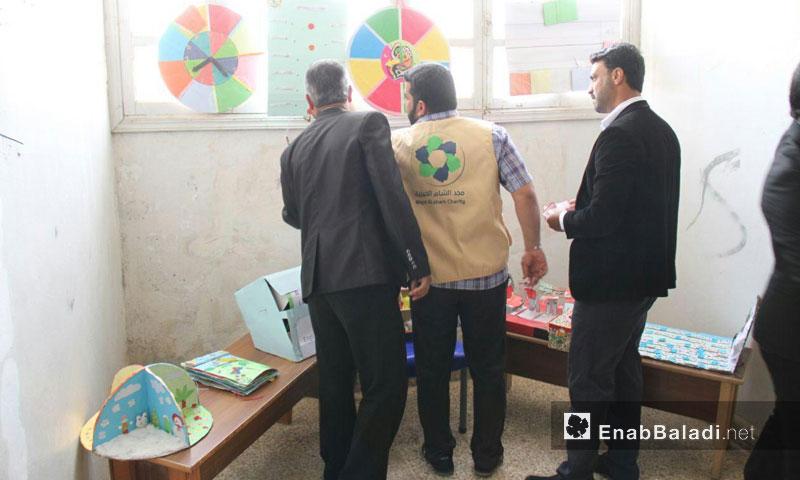 Exhibition of teaching aids in rural Idlib – April 9. 2018 (Enab Baladi)