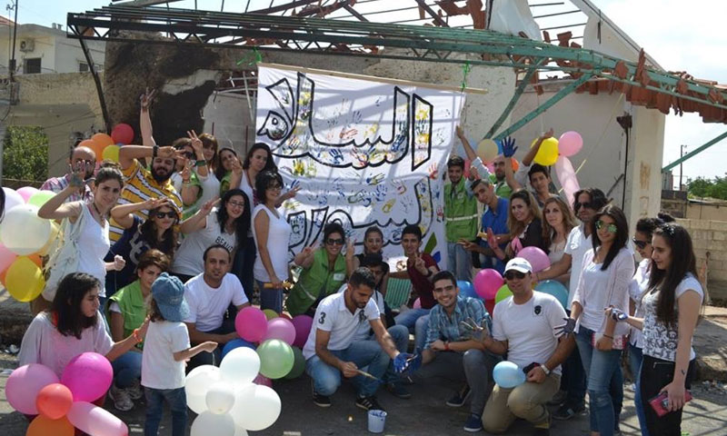 """A volunteering campaign by Jozour Organization, titled """"For You Syria of Peace"""" (Jozour Organization)"""