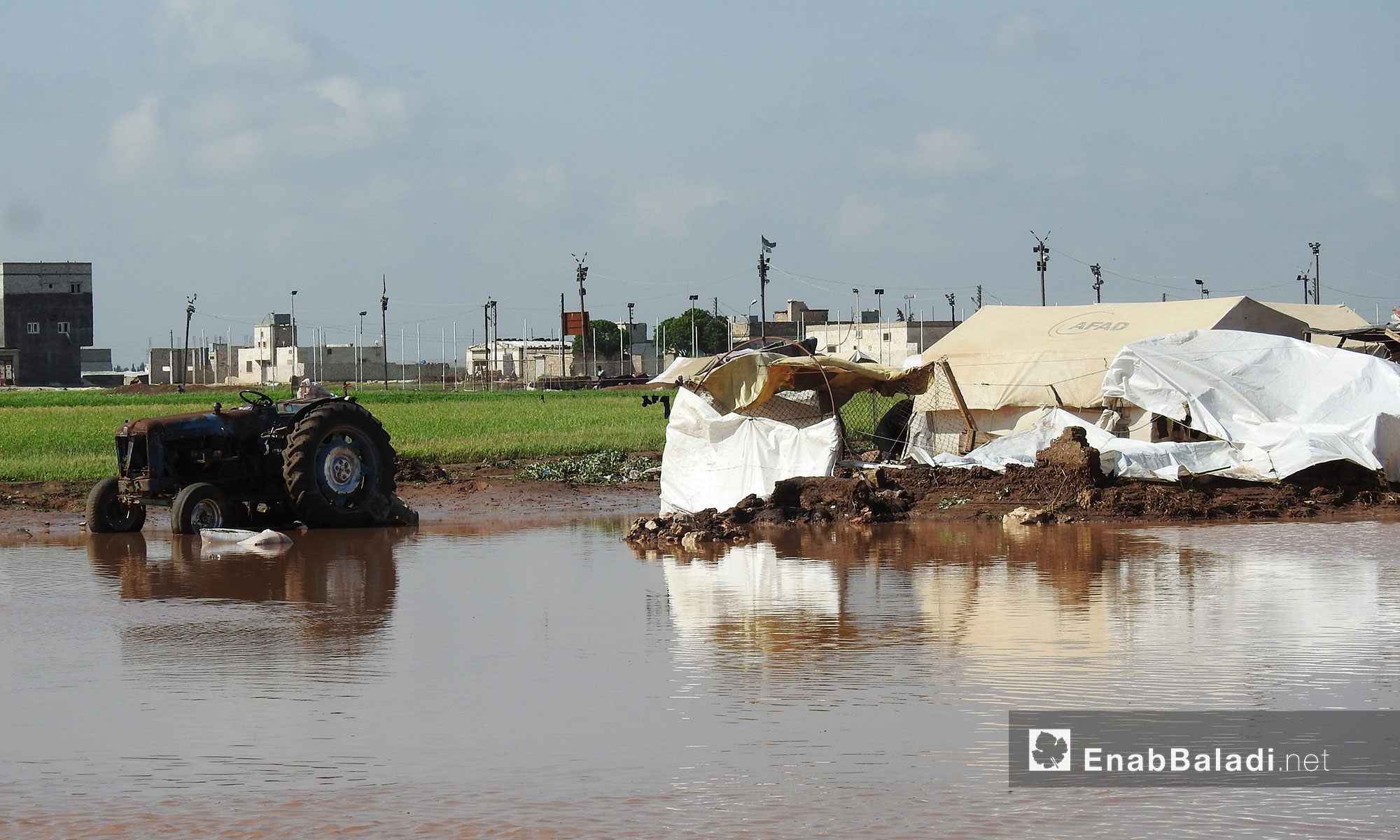 Refugee camps drown due to the Queiq River