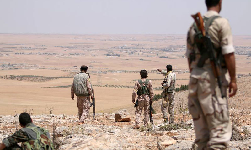 """Archive – """"SDF"""" fighters in eastern countryside of Raqqa (Euphrates Wrath)"""