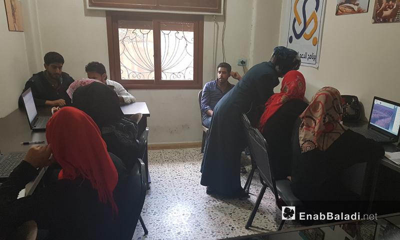 Illiteracy eradication courses in rural al-Hasakah – April 22. 2018 (Enab Baladi)