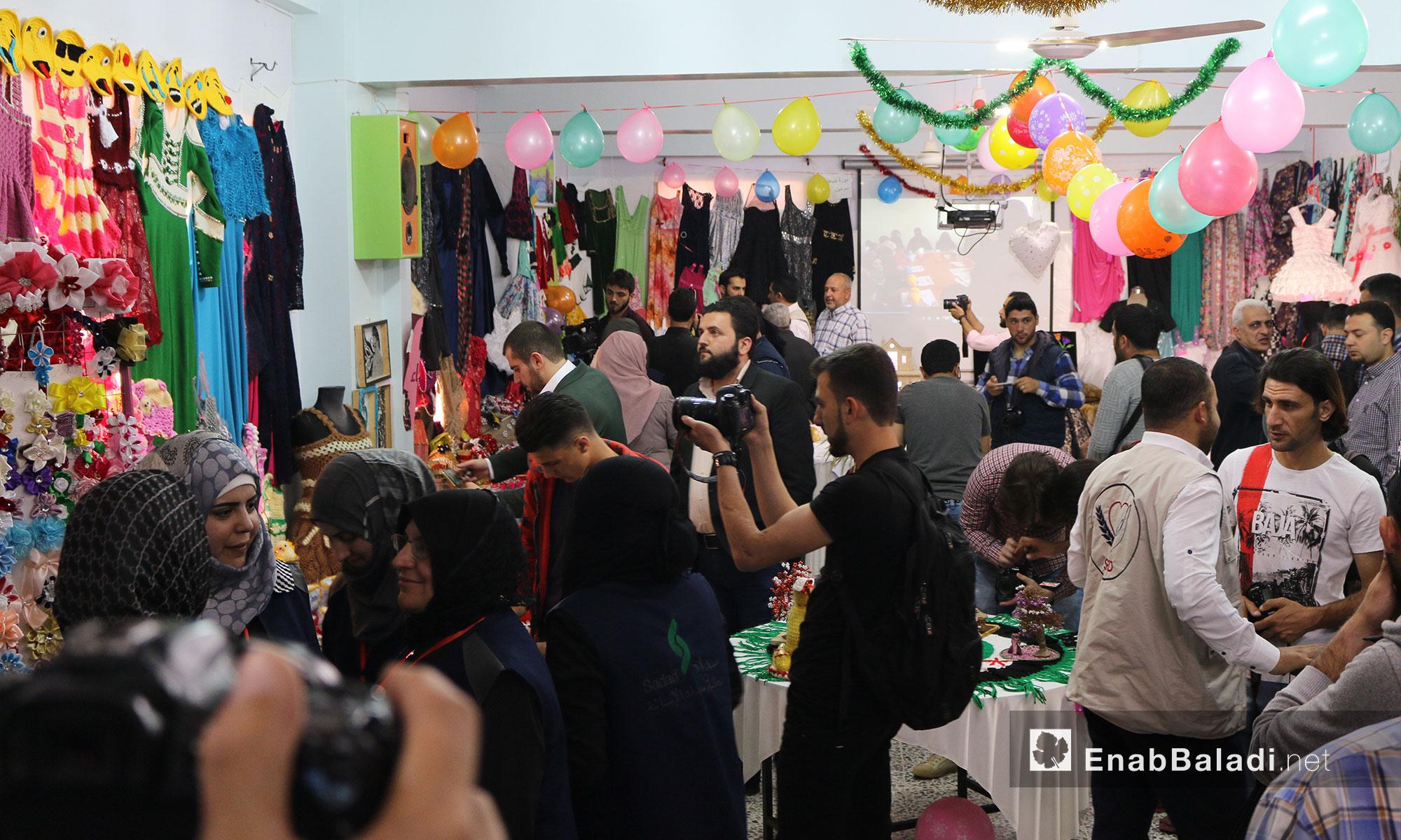 Handicrafts exhibition in the city of Idlib – April 30. 2018 (Enab Baladi)