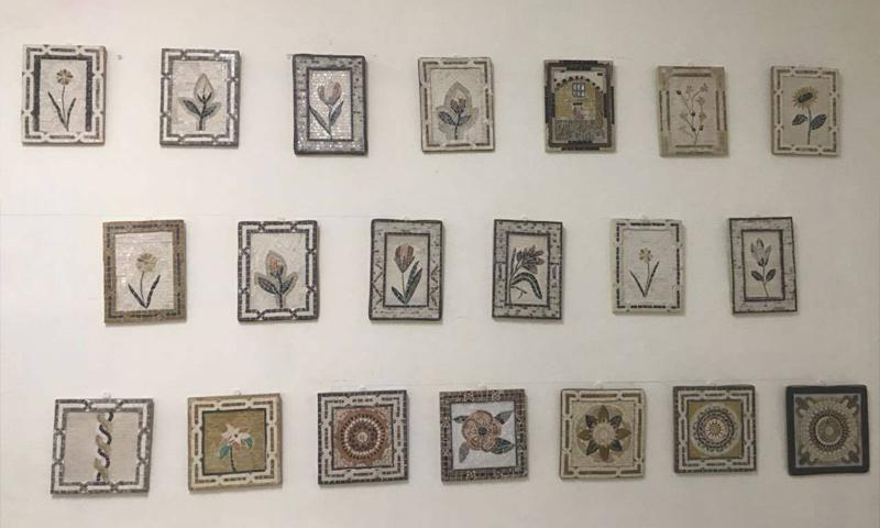 "A Syrian mosaic exhibition in the Jordanian capital, Amman, organized by ""Souriyat Across Borders"" – May 2018 (Souriyat Across Borders)"