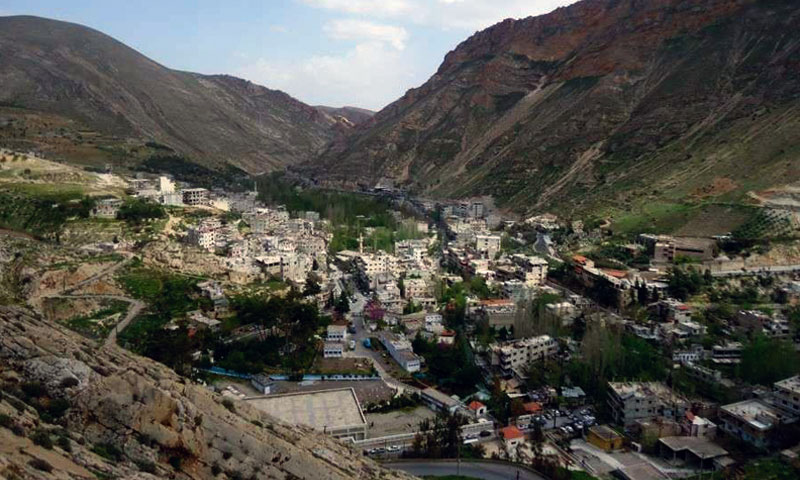The town Ain al-Fijah in which the spring's facility appears – 2015 (activists)