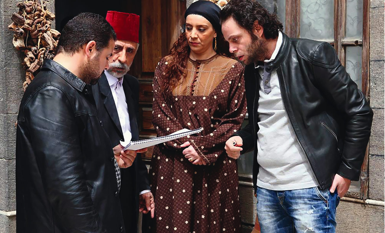 Behind the scenes of Talaa al-fidha series, produced by Syria International Company