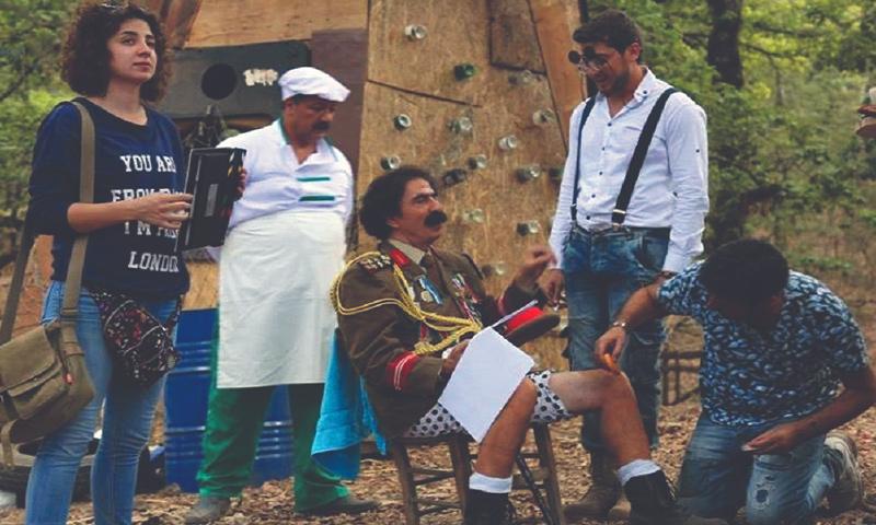 Behind the scenes of al-Waq Waq series filming