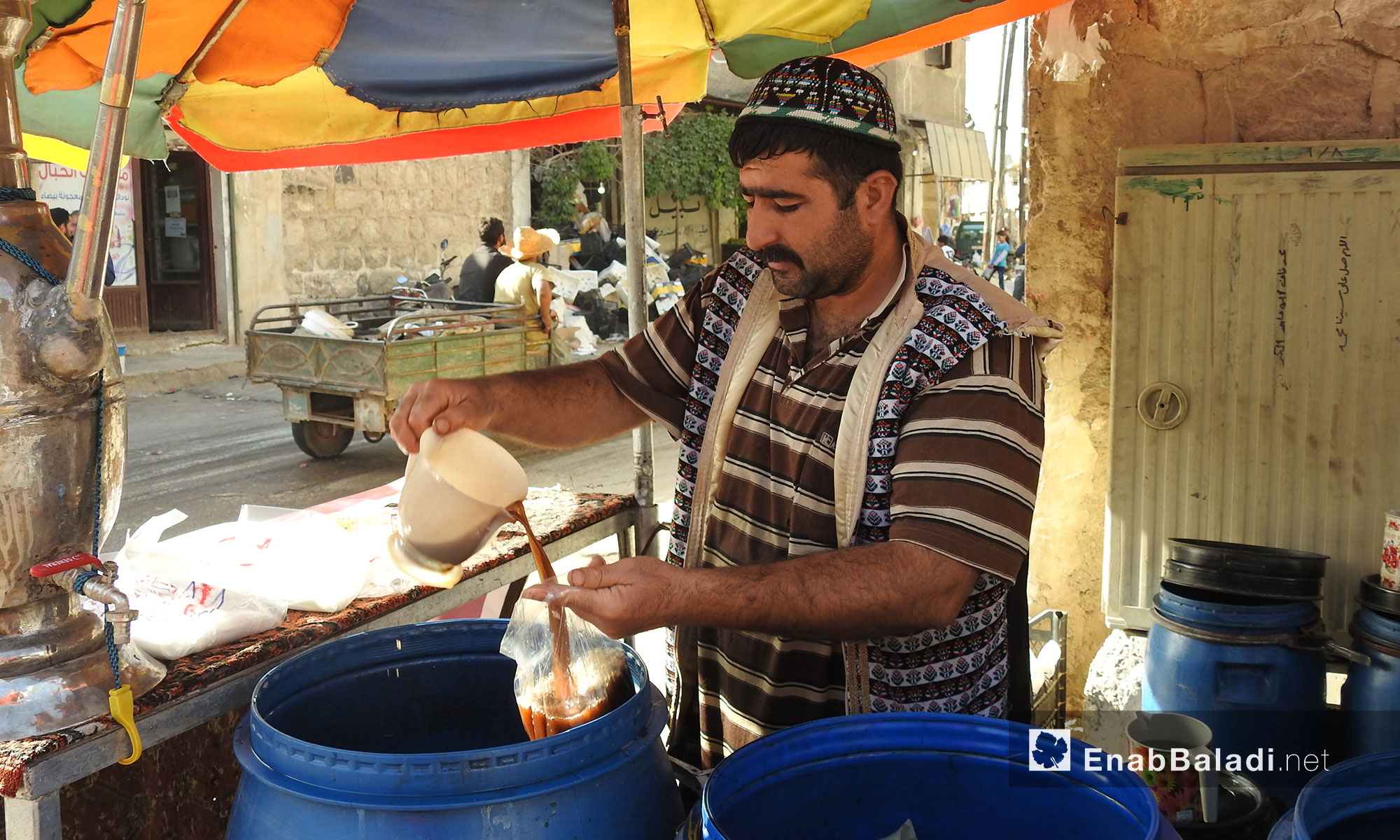 A tour in the markets of the city of Mare', the 4th day of Ramadan, in the northern countryside of Aleppo – May 20, 2018 (Enab Baladi)