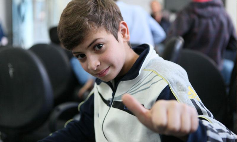 A child at an UNRWA school in Homs (UNRWA )