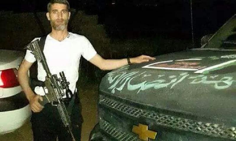 "Abu al-Majid, the general commander of ""Ansar al-Sham Front"" (Facebook)"
