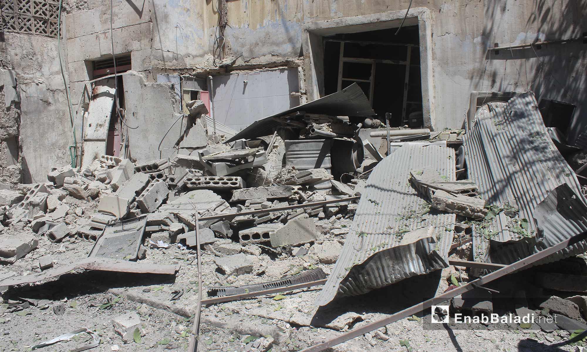 Shelling effects in the city of Ariha, Idlib – June 6, 2018 (Enab Baladi)