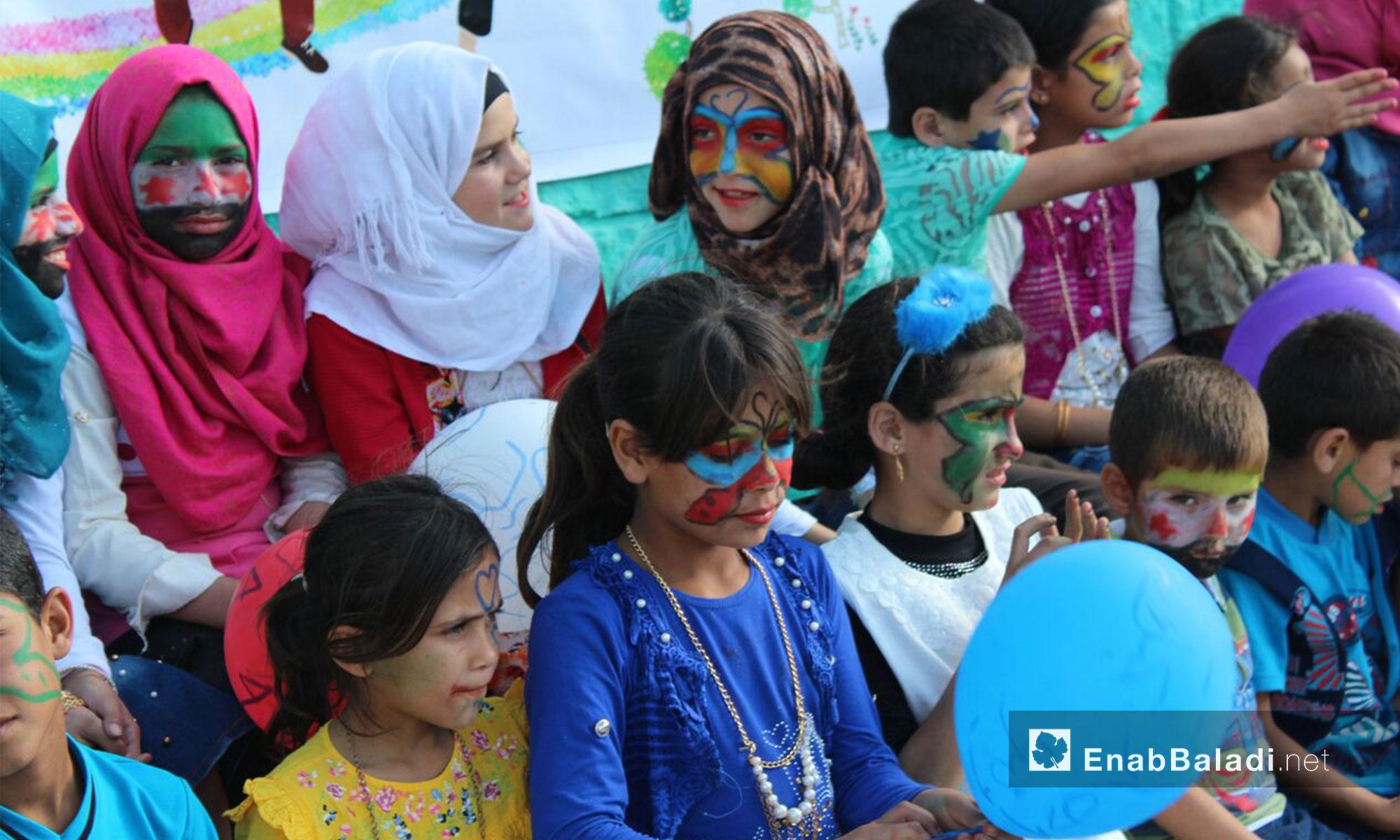 A carnival for children in celebration of Eid al-Fitr in rural Idlib's orphanage – June 17, 2018 (Enab Baladi)