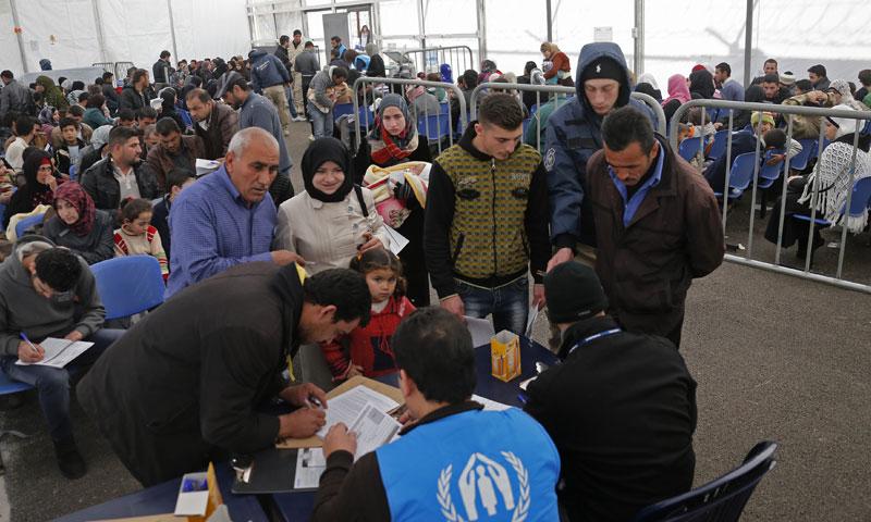 UNHCR center in Lebanon (WNPR)