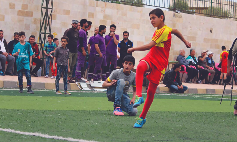 The first school championship in Idlib governorate (Syrian Sports and Youth Authority)