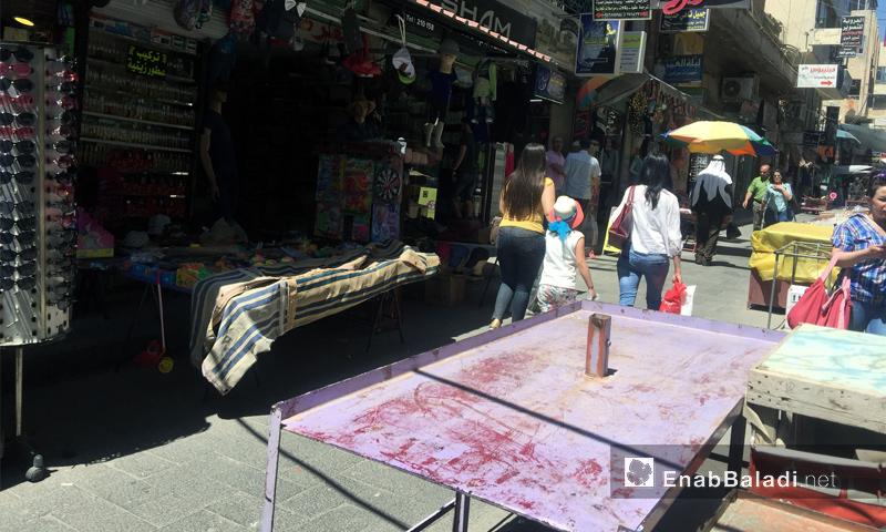 Al-Sha`rani Street Market in As-Suwayda – June 15, 2018 (Enab Baladi)