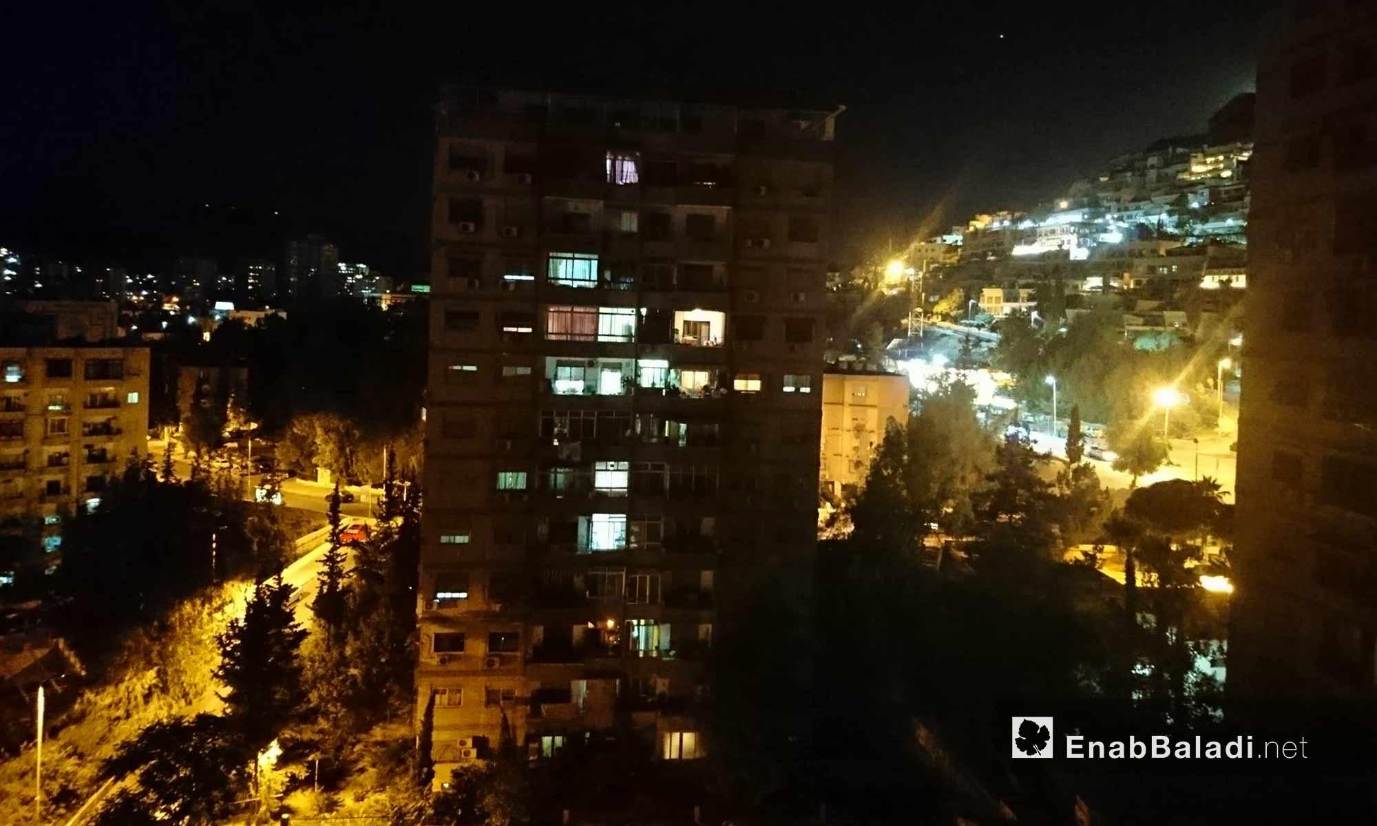 Mashrou Dummar at night, Damascus – June 22, 2018 (Enab Baladi)