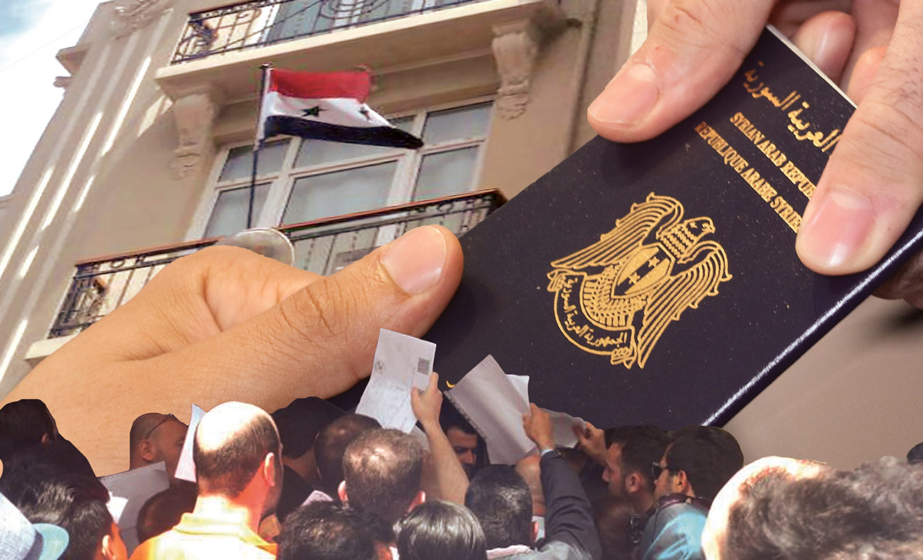 Syrian citizens flocking to the Syrian consulate in Istanbul - 25 May, 2018 (modified by Enab Baladi)