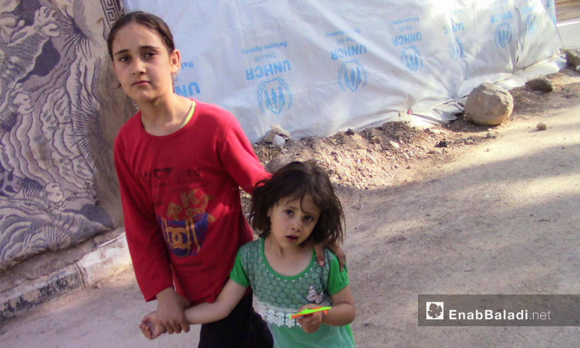 Children displaced from rural Daraa – June 26, 2018 (Enab Baladi)