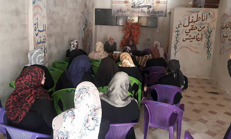 Awareness seminar for women in Tomouh Center in Daraa governorate – June 13, 2018 (Women's Ambition Association)