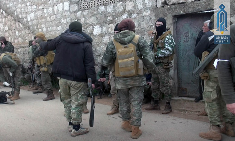 """""""Tahrir al-Sham"""" troops in rural Idlib – March 2018 (Ebaa)"""