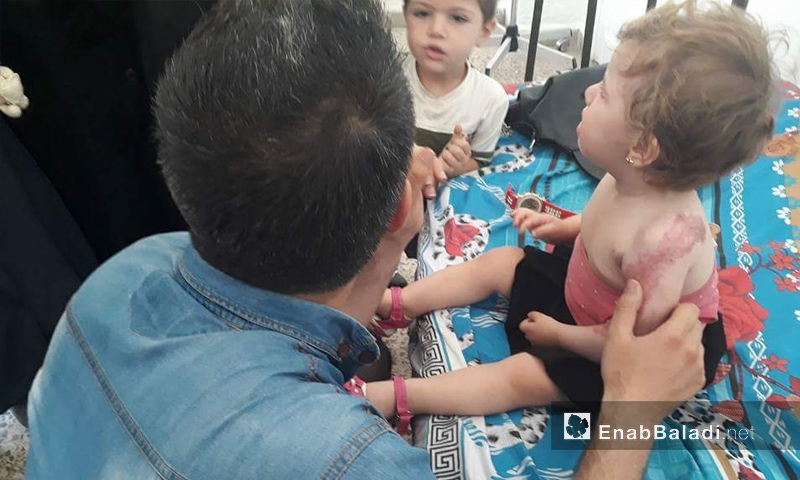 """Children receiving medical care at the """"Physical Therapy Center"""" at Idlib University, city of Idlib (Enab Baldi)"""