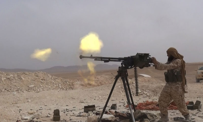 ISIS fighter during the military confrontations in Deir ez-Zor – October 2018 (Amaaq)