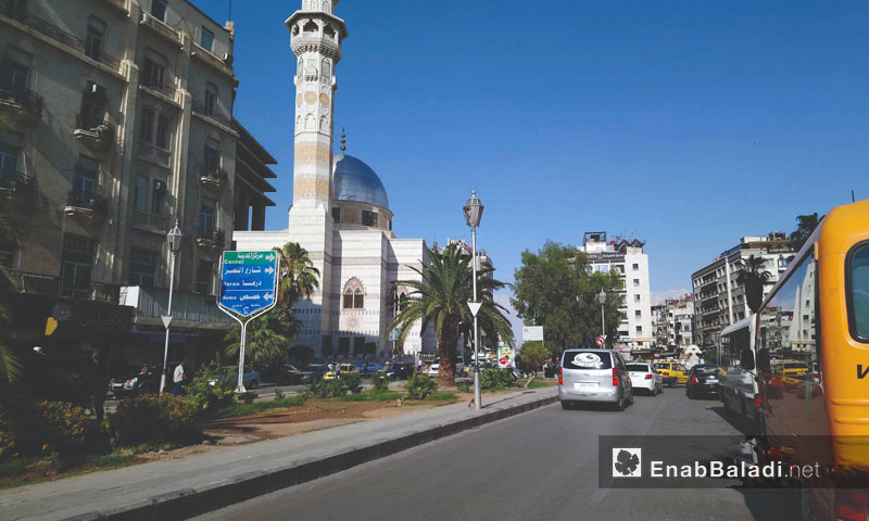 Traffic near Marjeh Square in the capital, Damascus - June 6, 2018 (Enab Baladi)