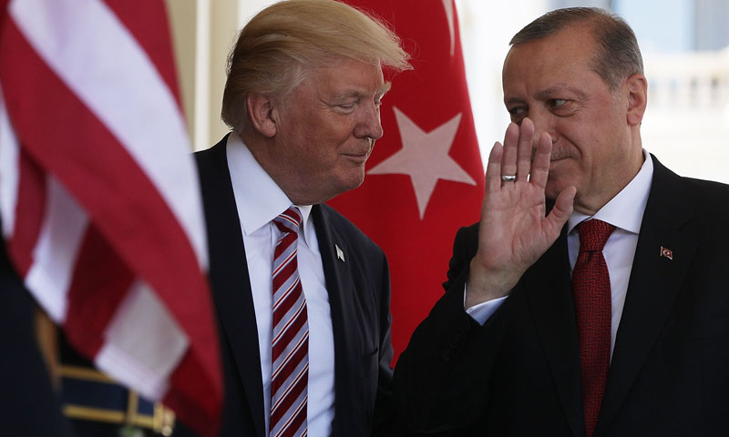The Turkish President Recep Tayyip Erdoğan and the American President Donald Trump (Getty Images)